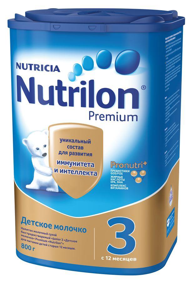 """Молочная смесь Нутрилон """"Nutrilon-3 Premium"""" 800,0 (напиток молочный """"Junior 3 Детское молочко"""")"""