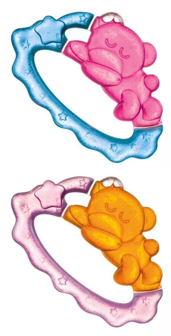 """Прорезыватель для зубов охлаждающий (дизайн """"Спящий мишка"""", с дистиллированной водой, двухцветный), 2/242, """"Canpol babies"""""""