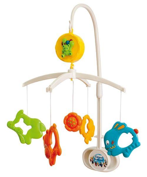 """Музыкальная карусель """"Бегущие зверюшки"""" (механическая, с пластиковыми стилизованными фигурками зверят (4 штуки), стимулирует развитие визуальной координации и слуха ребенка), 2/552, """"Canpol babies"""""""