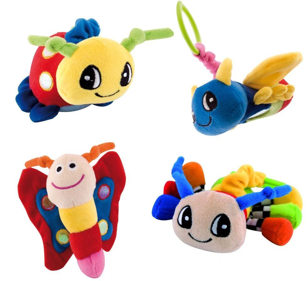"""Мягкая игрушка - погремушка """"Букашка"""" (плюшевая игрушка со встроенной погремушкой, дизайн """"Бабочка"""", """"Божья коровка"""", """"Жук"""", """"Пчелка""""), 67/000, """"Canpol babies"""""""