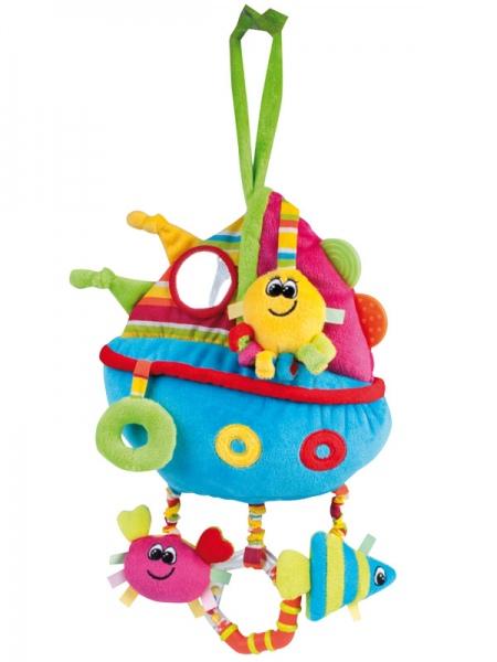 """Мягкая обучающая игрушка """"Цветной океан"""" (плюшевая игрушка с игровыми элементами и встроенными интерактивными компонентами """"блеск"""", """"писк"""", """"погремушка""""), 68/016, """"Canpol babies"""""""