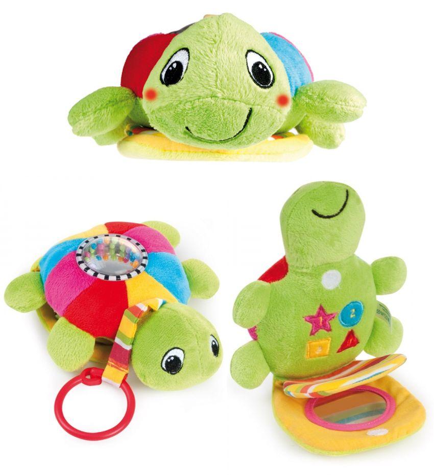 """Мягкая обучающая игрушка """"Морская черепаха"""" (музыкальная плюшевая игрушка со встроенными интерактивными компонентами """"блеск"""", """"шорох"""", """"погремушка"""", """"музыка"""", """"свет""""), 68/019, """"Canpol babies"""""""