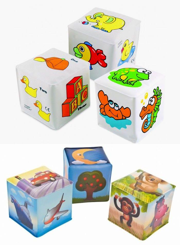 """Мягкий кубик с погремушкой (с красочными картинками, со встроенной погремушкой, материал - EVA (этиленвинилацетат), не содержит ПВХ), 2/706, """"Canpol babies"""""""