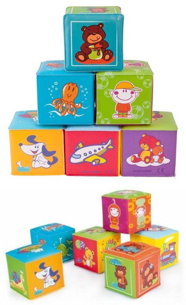 """Мягкий кубик (6 штук в упак., с красочными картинками, материал - EVA (этиленвинилацетат), не содержит ПВХ), 2/817, """"Canpol babies"""""""