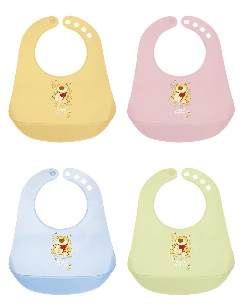 """Пластиковый нагрудник (с рисунком и карманом для остатков пищи во время кормления ребенка), 2/404, """"Canpol babies"""""""