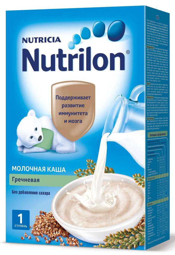 """""""Нутрилон"""" каша """"Nutrilon"""" молочная """"Гречневая"""" (без соли и сахара, с пребиотиками, на основе детской молочной смеси) 225,0"""