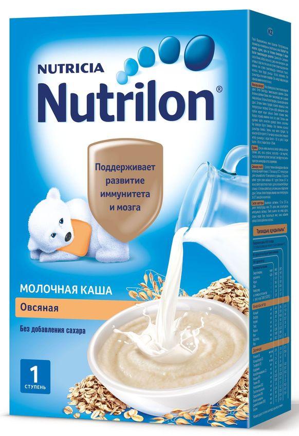 """""""Нутрилон"""" каша """"Nutrilon"""" молочная """"Овсяная"""" (без соли и сахара, с пребиотиками, на основе детской молочной смеси) 225,0"""
