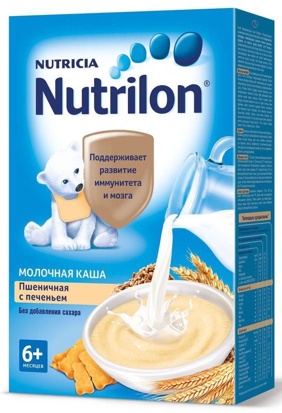 """""""Нутрилон"""" каша """"Nutrilon"""" молочная """"Пшеничная с печеньем"""" (без соли и сахара, с пребиотиками, на основе детской молочной смеси) 225,0"""