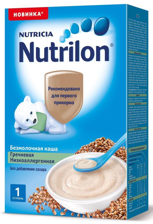 """""""Нутрилон"""" каша """"Nutrilon"""" безмолочная низкоаллергенная """"Гречневая"""" (без соли и сахара) 200,0"""