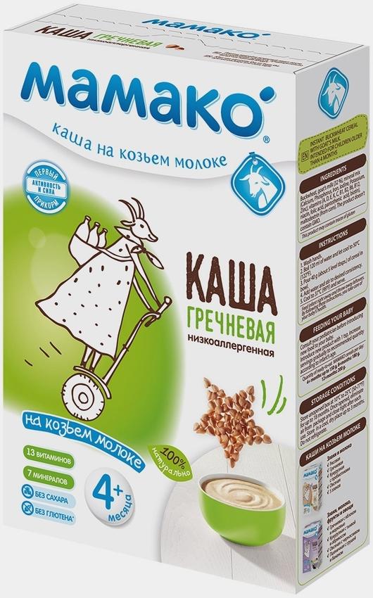 """""""МАМАКО"""" каша молочная ГРЕЧНЕВАЯ на козьем молоке (низкоаллергенная, с пребиотическим эффектом, без соли и сахара) 200,0"""