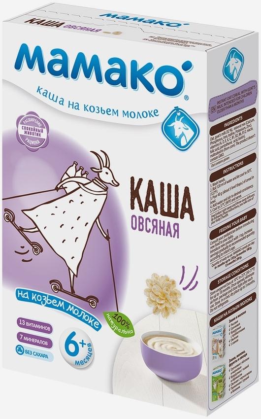 """МАМАКО"" каша молочная ОВСЯНАЯ на козьем молоке (с пребиотическим эффектом, без соли и сахара) 200,0"
