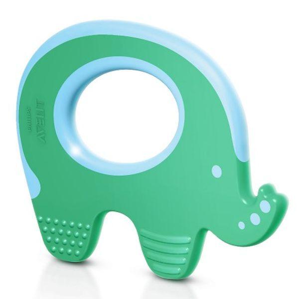 """Прорезыватель для зубов """"Слоник"""" (3m+, для передних, задних и боковых зубов, можно охлаждать), SCF199/00,  """"AVENT"""""""