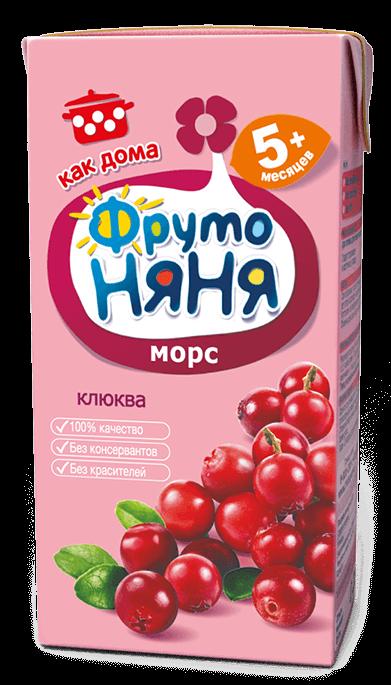 """Морс """"Клюква"""" 200 мл """"ФрутоНяня"""""""