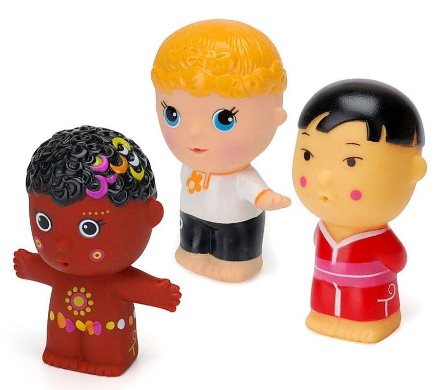 """Игрушка """"Мальчики"""" (коллекция """"Тусики"""", в упаковке 3 игрушки: """"Африканский мальчик"""", """"Славянский мальчик"""", """"Японский мальчик""""), 22619т, """"ПОМА"""""""