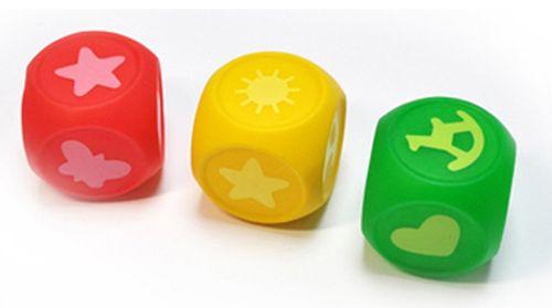 """Набор игрушек для ванны """"Кубики УЧИМ ЦВЕТА"""" (с пищалкой, 3 штуки), 20419, """"ПОМА"""""""