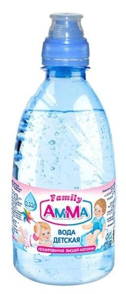 """Вода детская питьевая """"АМ-МА"""" 0,33 л"""