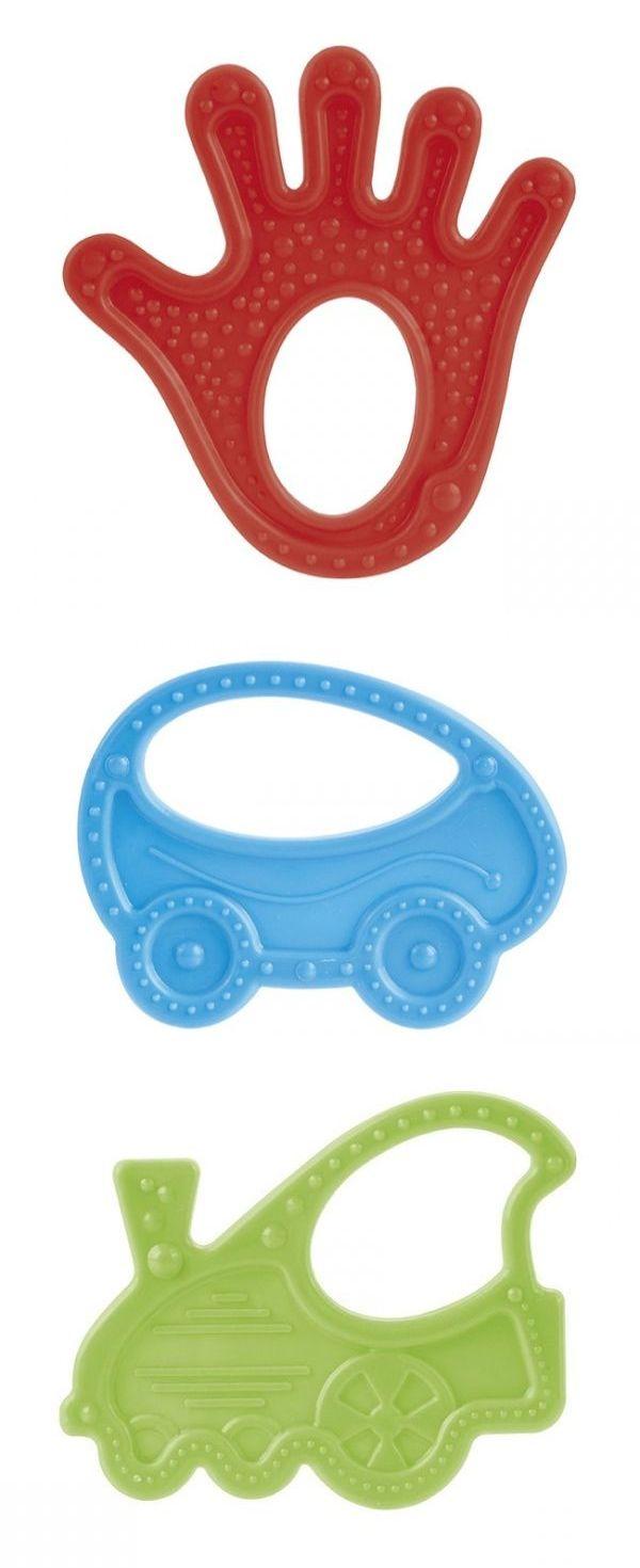 """Прорезыватель для зубов (дизайн """"ладошка, машинка, паровозик""""), 13/118, """"Canpol babies"""""""