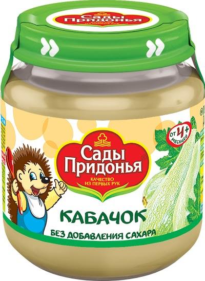 """Пюре """"Кабачок без сахара"""" 120,0 """"Сады Придонья"""" (стеклобанка)"""