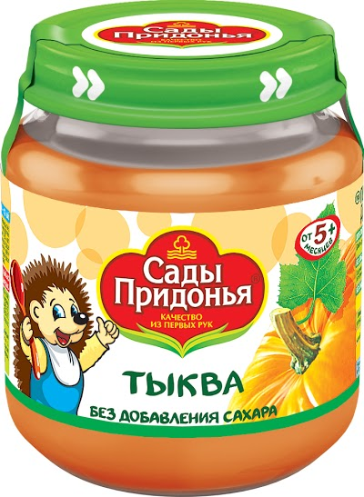 "Пюре ""Тыква без сахара"" 120,0 ""Сады Придонья"" (стеклобанка)"