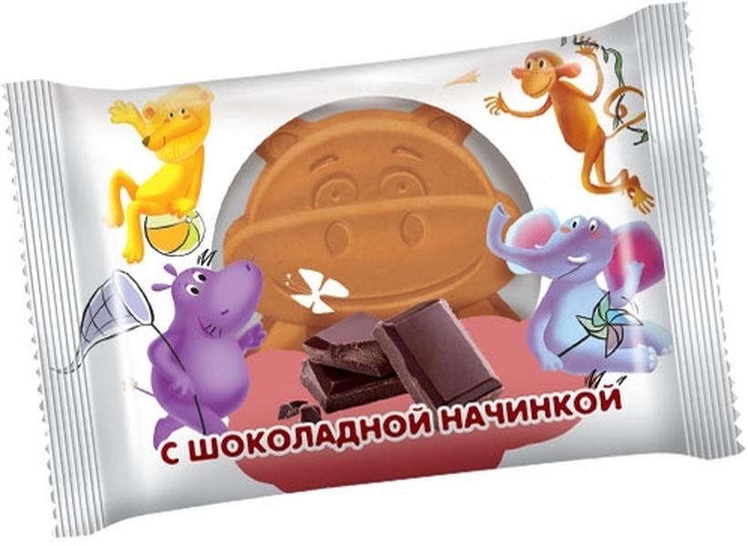 """Детские бисквитные пирожные """"Бегемотик Бонди"""" с шоколадной начинкой 30,0 (Бегемотик Бонди Friends с шоколадной начинкой)"""