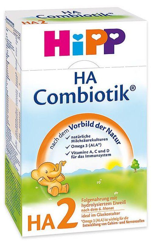 """Молочная смесь ХИПП """"HiPP HA 2 Combiotiс"""" (ХиПП гипоаллергенный 2 Комбиотик) 500,0"""