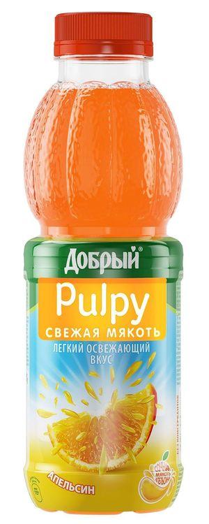 """АПЕЛЬСИН. Напиток сокосодержащий с соком и мякотью апельсина 450 мл """"Добрый Палпи (Pulpy)"""""""