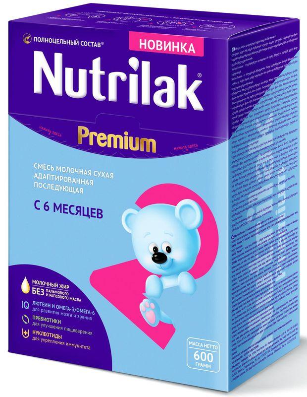 """Молочная смесь Нутрилак """"Nutrilak Premium 2 (6-12, с пребиотиками и нуклеотидами)"""" 600,0"""