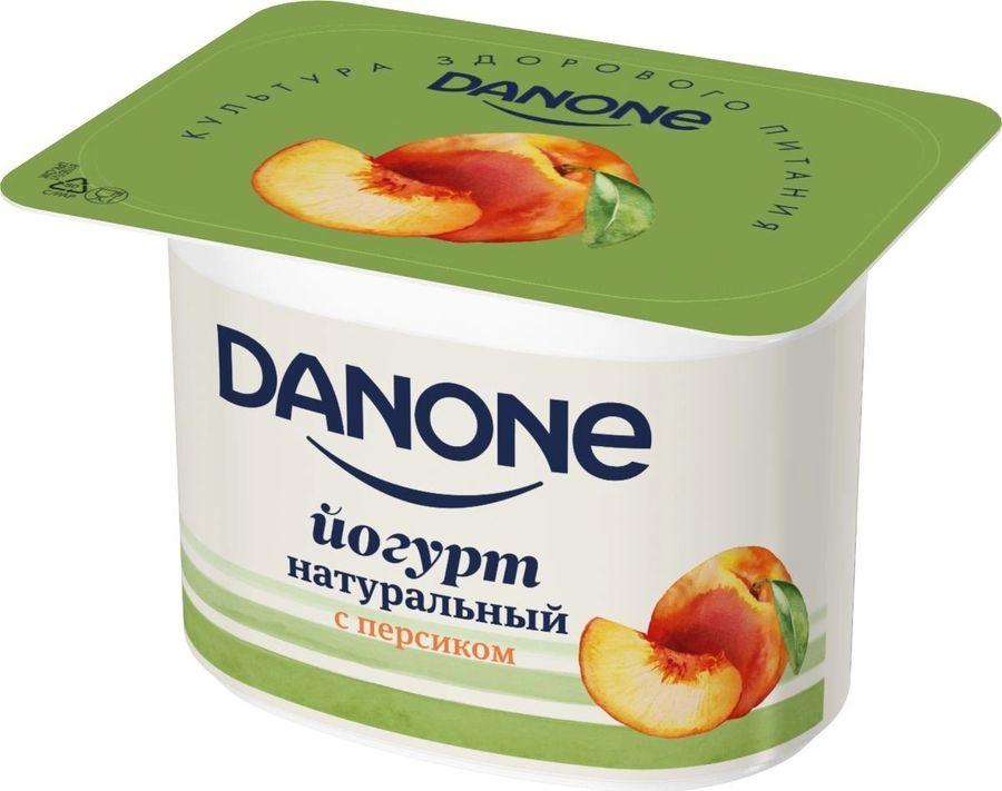 "Йогурт ""НАТУРАЛЬНЫЙ с персиком"" (мдж-2,9%) 110,0 ""DANONE (ДАНОН)"""