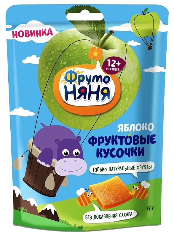 """Продукт """"Фруктовые кусочки из яблок, 10 штук"""" 53,0 """"ФрутоНяня"""""""