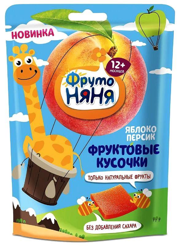 """Продукт """"Фруктовые кусочки из яблок и персиков, 10 штук"""" 53,0 """"ФрутоНяня"""""""