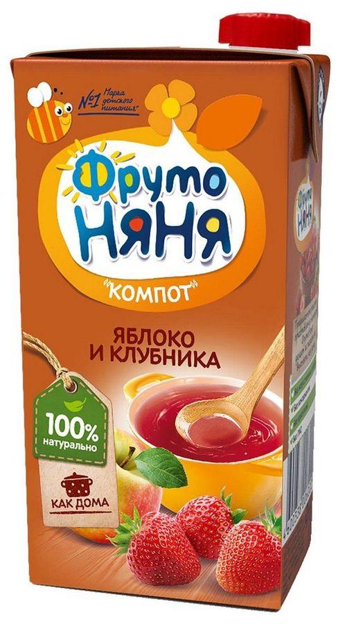 """Компот """"Яблоко и клубника"""" 500 мл """"ФрутоНяня"""""""