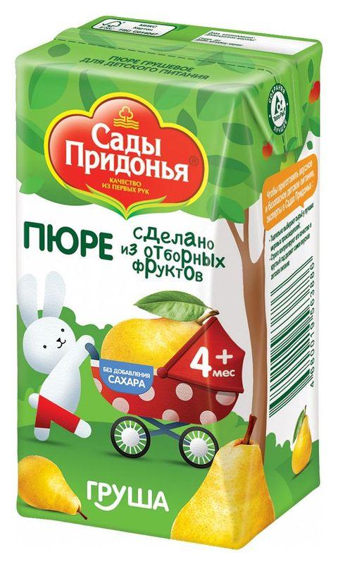"""Пюре """"Груша без сахара"""" 125,0 """"Сады Придонья"""""""