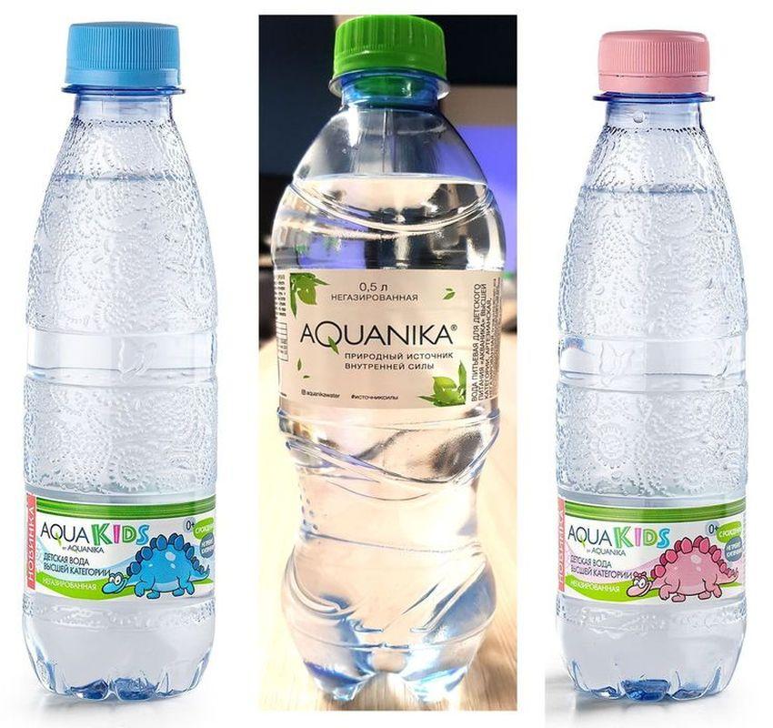 """Вода детская питьевая """"Акваника"""" (Aquanika) 0,5 л"""